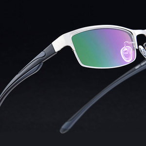 Image 2 - High end Business Lesebrille Edelstahl Halb Randlose Brillen Rahmen Optische Verordnung Brillen