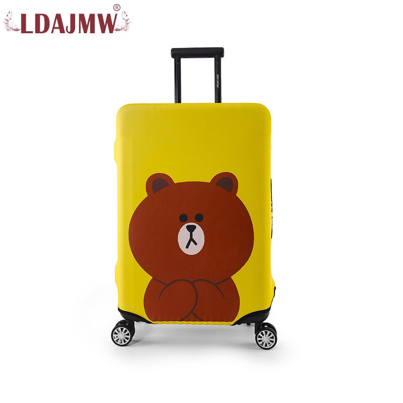LDAJMW New luggage Suitcase Protective Trunk Covers 19-32 Inch Case Elastic Dust Cover for honda jazz trunk tray mat tpo waterproof anti slip car trunk carpet luggage cover black