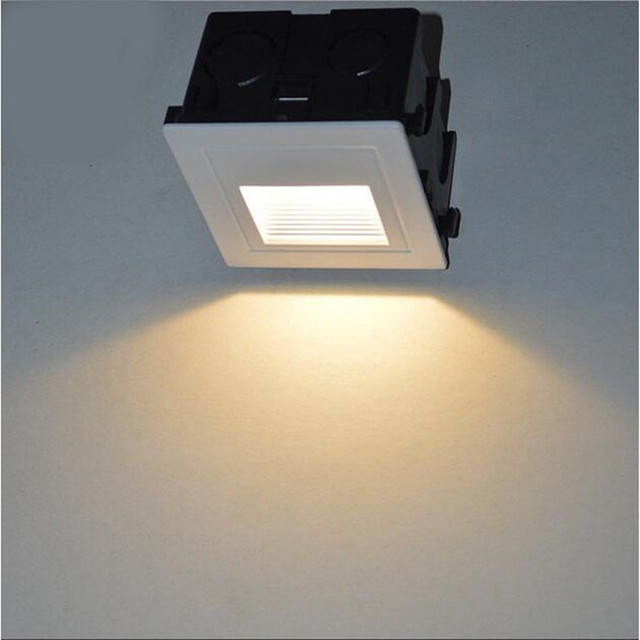 Outdoor IP67 Waterproof Led Stair Light Aluminum 3W Recessed LED Step Lamp  Pathway Wall Corner Lamps