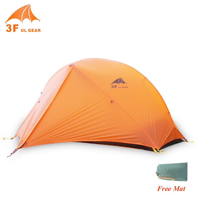 3F UL Gear Ultralight 2 Person Double Outdoor Camping Tent Portable Waterproof Hiking Backpacking Tents With Free Mat Included professional camping gear 2 people outdoor 4 reason camping tent hiking climbing backpacking mountaineering tourism ultralight