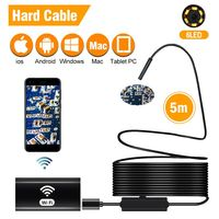 WiFi Inspection Camera IP67 Waterproof Semi Rigid Wireless Borescope 8mm Endoscope Camera IOS Endoscope For Android,iPhone,PC