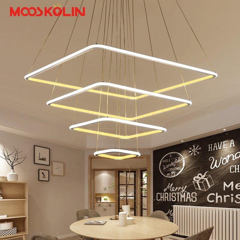 Здесь продается  Modern Led Chandelier Square Lustre Lighting With Remote Control Aluminum Lamps For Dinning Room Hotel Restaurant Avize Fixtures  Свет и освещение