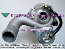 K03 0017 53039880017 53039700017 TURBINE TURBO Turbocharger For Audi S4 A6 ALLROAD Engine: AJK ARE BES 1997-2001 2.7L Wholesale