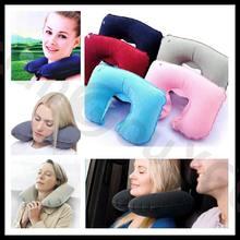 Rest-Headrest Pillow Travel Camping-Neck Air-Inflatable Car-Flight Air-Cushion U-Shaped