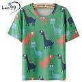 Tops Dinosaur T Shirt Print Women Summer T-shirt 2016 Dinosaur T Shirt Female Camisetas Mujer Harajuku Animal T shirts Tops Tees