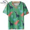 Tops Dinosaurio T Shirt Print Verano de Las Mujeres T-shirt 2016 Dinosaurio Camiseta Mujer Camisetas Mujer Harajuku Animales camisetas Tops Tees