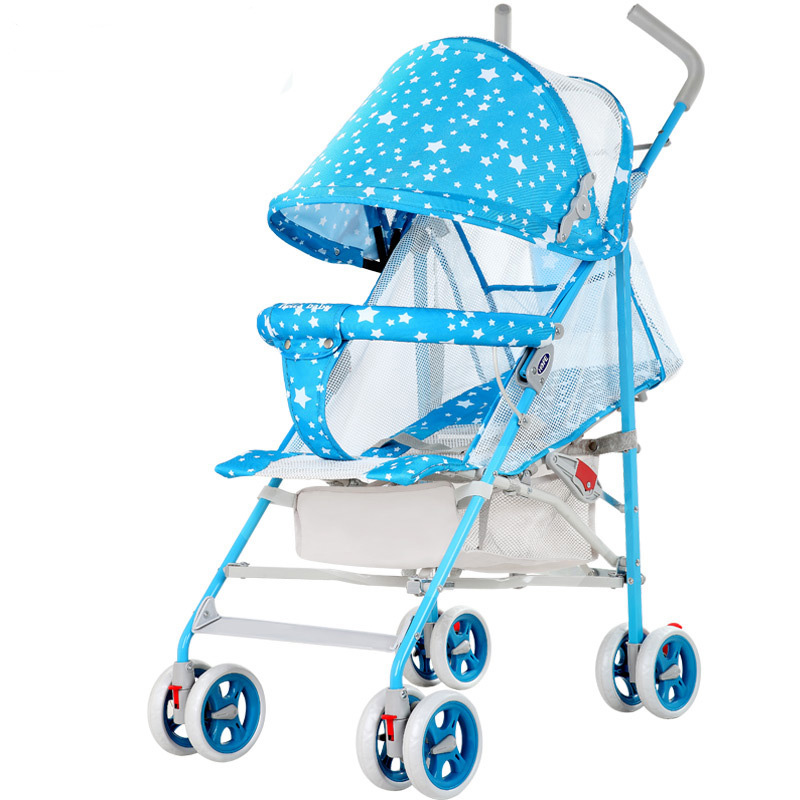 2017 NEW Arrival Starry Sky Printing Baby Stroller Portable Folding Can Sit Can Lie Down BabyStroller Suitable For 0-3 Year Baby modi 3 air stroller blue sky