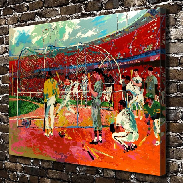 A1820 LeRoy Neiman Colorful Abstract Baseball Figures HD Canvas Print Home Decoration Living Room Wall