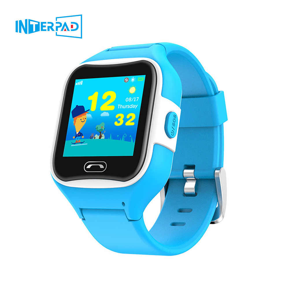 Interpad Kids Smart Watch GPS Position SOS Phone Call Smartwatch IP67 Waterproof 1.3 Inch Touch Screen Wristwatch For Children