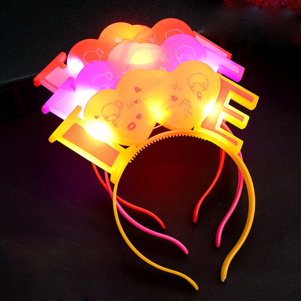 Hairband For Girls El Led Club Party Concert Light Up Bright Flash Glowing Hairband Beach Fashion Accessories Summer Headwear #8 Back To Search Resultshome