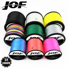 JOF 8 нитей 1000 м 500 м 300 м ПЭ плетеная рыболовная леска Япония многоцветная морская рыболовная плетеная Улучшенный Экстремальный супер сильный