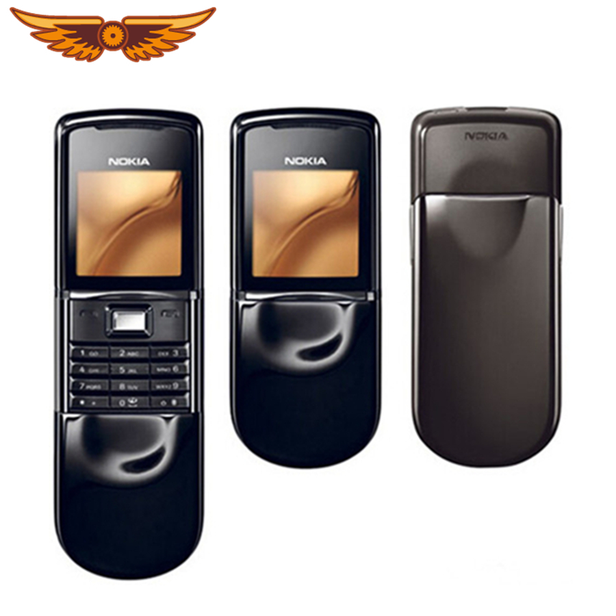 Original Nokia 8800 Mobile Phone English / Russian keyboard GSM FM Bluetooth Phone Gold Silver Black One year warranty wood