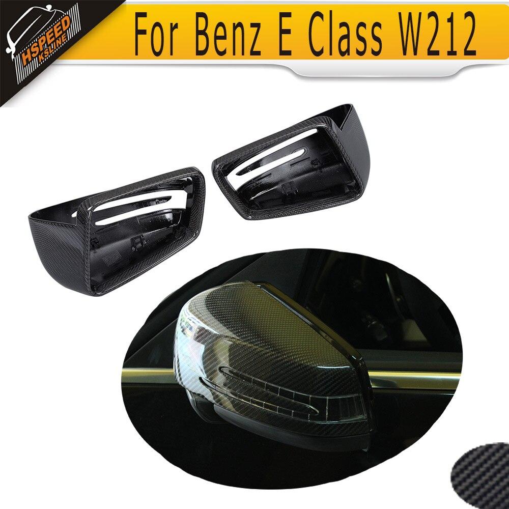Di ricambio Auto di Carbonio Specchio Laterale Della Copertura Per Mercedes Benz Classe E W212 2009-2016 W207 2010 Bianco Cromo