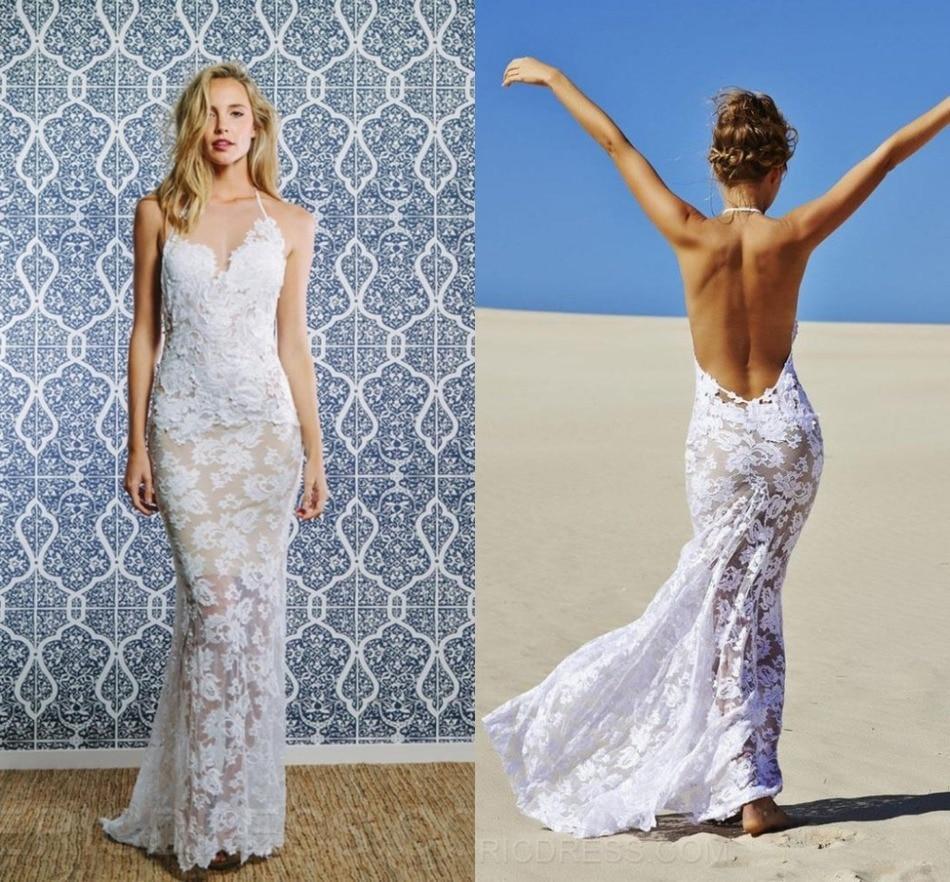 Beach Halter Wedding Dress Vosoi 6343 By Flagyl2016us
