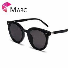 MARC Fashion Sunglasses Men UV400 Sun Glasses For Women Trend Brand Designer Cat eye High Quality Eyewear Male Clear Oversize