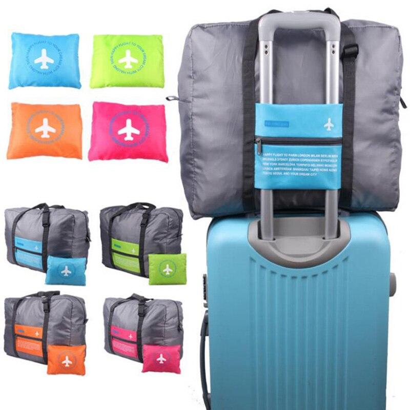 Mode sac de voyage étanche grande capacité voyage duffle femmes Nylon sac pliant unisexe hommes bagages voyage sacs à main en gros