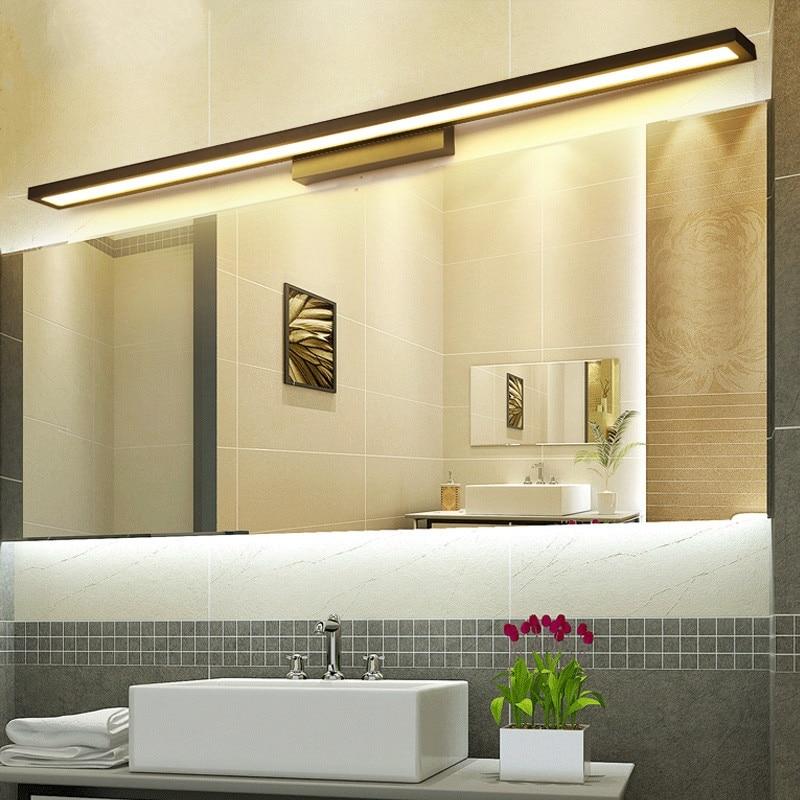 GZMJ Nordic Moderne LED Wand Lampe Klammer Licht Einfache Acryl Wasserdichte Spiegel Front Bad Küche Banheiro Leuchte Leuchte