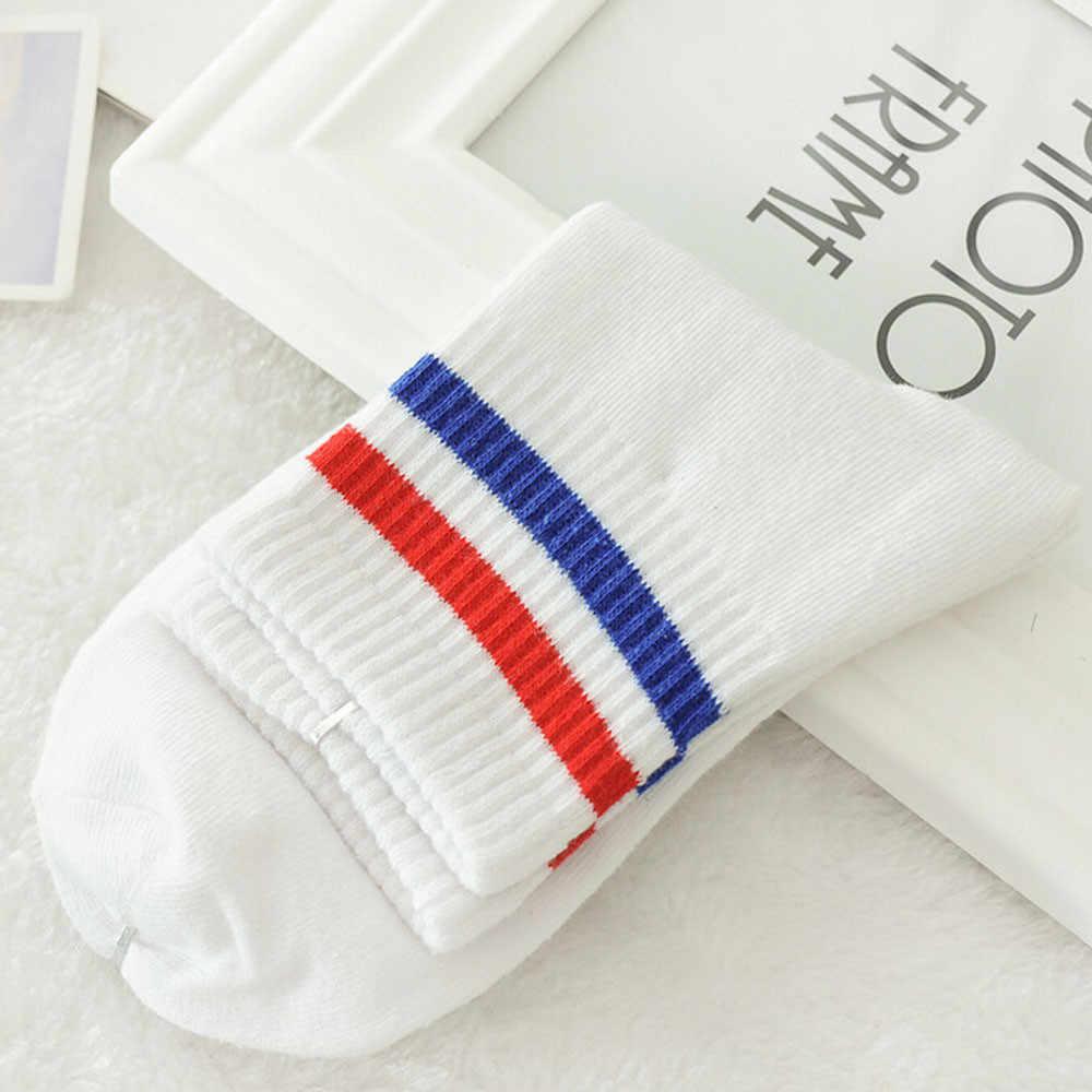 Meias 1 par unisex harajuku listrado sobre o tornozelo confortável meias de algodão oct18