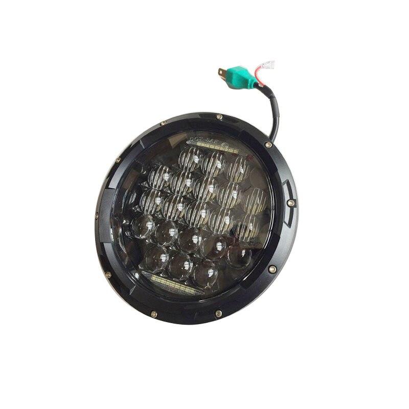 7 Inch Putaran LED Headlight 75W 5D Tinggi rendah Putih Angel Eye - Lampu mobil - Foto 2