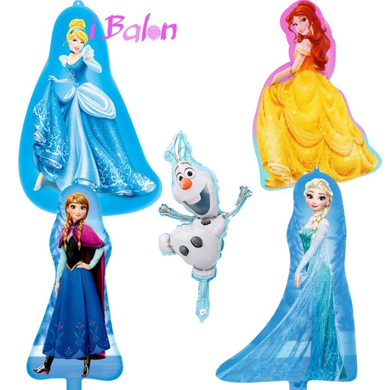 100 pçs mini disney princesa folha balões