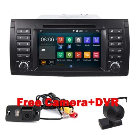 imágenes para Android 5.1 Tablet PC Del Coche doble 2din audio para BMW E39 E53 con Wifi 3G Quad 1024X600 Bluetooth Radio RDS USB SD cámara Libre