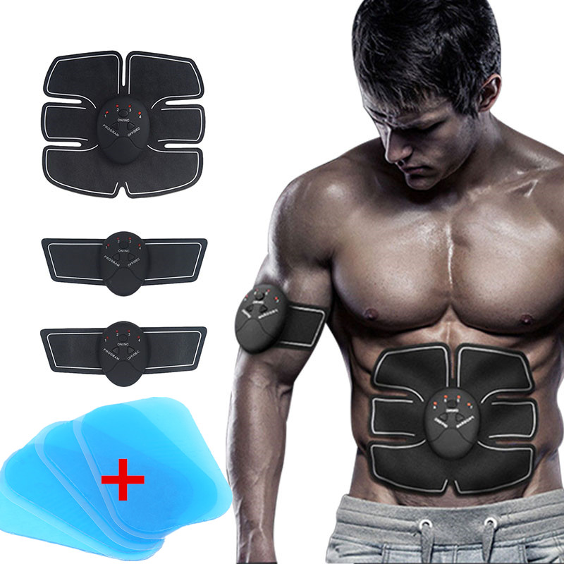 Abdominal Muscle Stimulator Device Wireless EMS Belt Gym Professional Body Slimming Massager with Hydrogel Mat Replacement