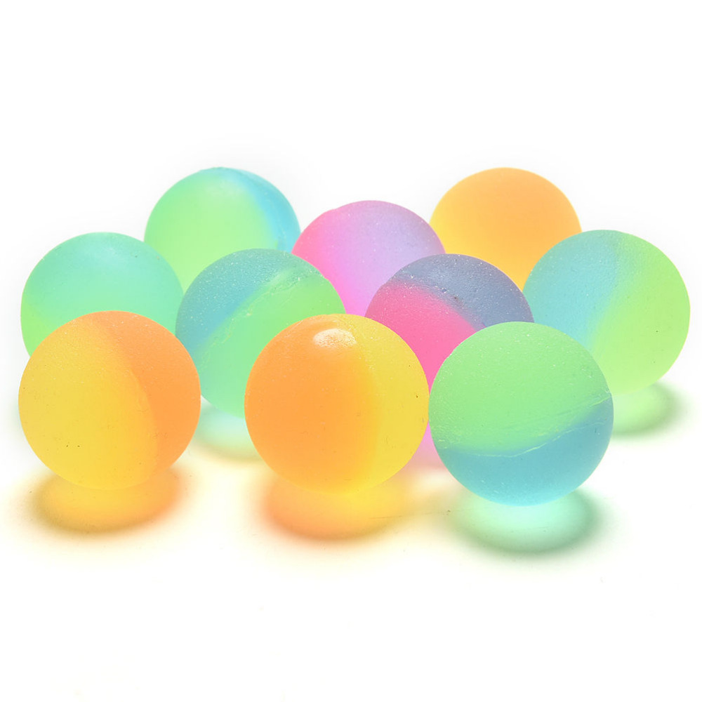 Luminous Colored Kids Sport Games Elastic Juggling Jumping Balls Children Toy Boy Bouncing Ball Rubber Outdoor Toys