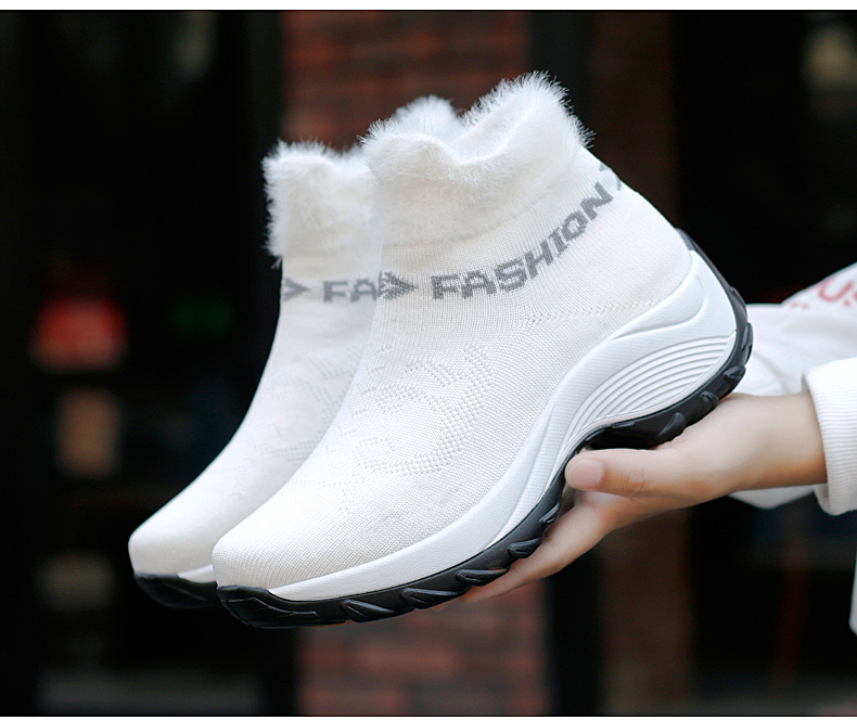 STS BRAND 2019 New Winter Ankle Boots Women Snow Boots Warm Plush Platform Sneakers Breathable Mesh Sneakers Travel Casual Shoes (14)