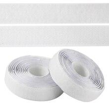 Adhesive Black White Hook Loop Tape Heavy Duty Sticky Back Fastener Crochet Velvet Ribbon Closure Fixation Tape Sticker,2cm*2/5m