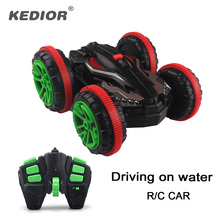 Kedior Rc Car Amphibious Vehicle Double-Sided Stunt Car 1/18 Scale 360 degree Rotate Model 2.4Ghz 4WD Remote Control Car