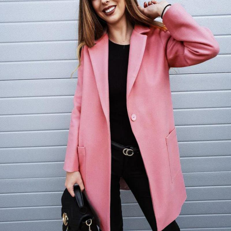 Autumn Fashion Woman Classic Long   Trench   Coat Waterproof Business Outerwear Office Lady All Match   Trench   With Pocket One Button