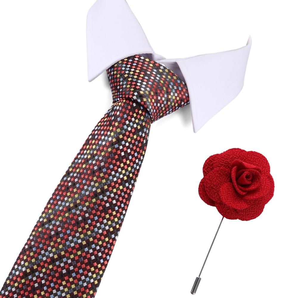 New Jacquard Woven Neck Tie For Men Wedding Business Classic Fashion Silk Mens Necktie Suit 7.5cm Width Gift for men
