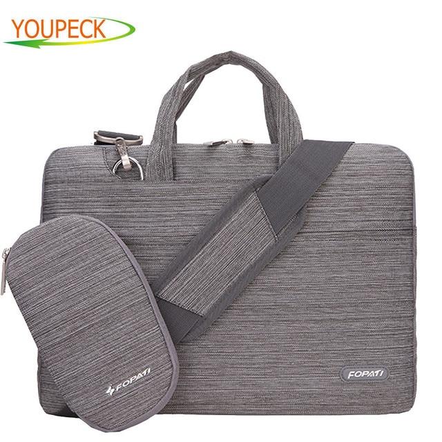 Brand Laptop Bag 15.6 15 14 13 12 11 inch Notebook Shoulder Messenger Bag Handbag Briefcase Sleeve Sling Case Cover for Macbook