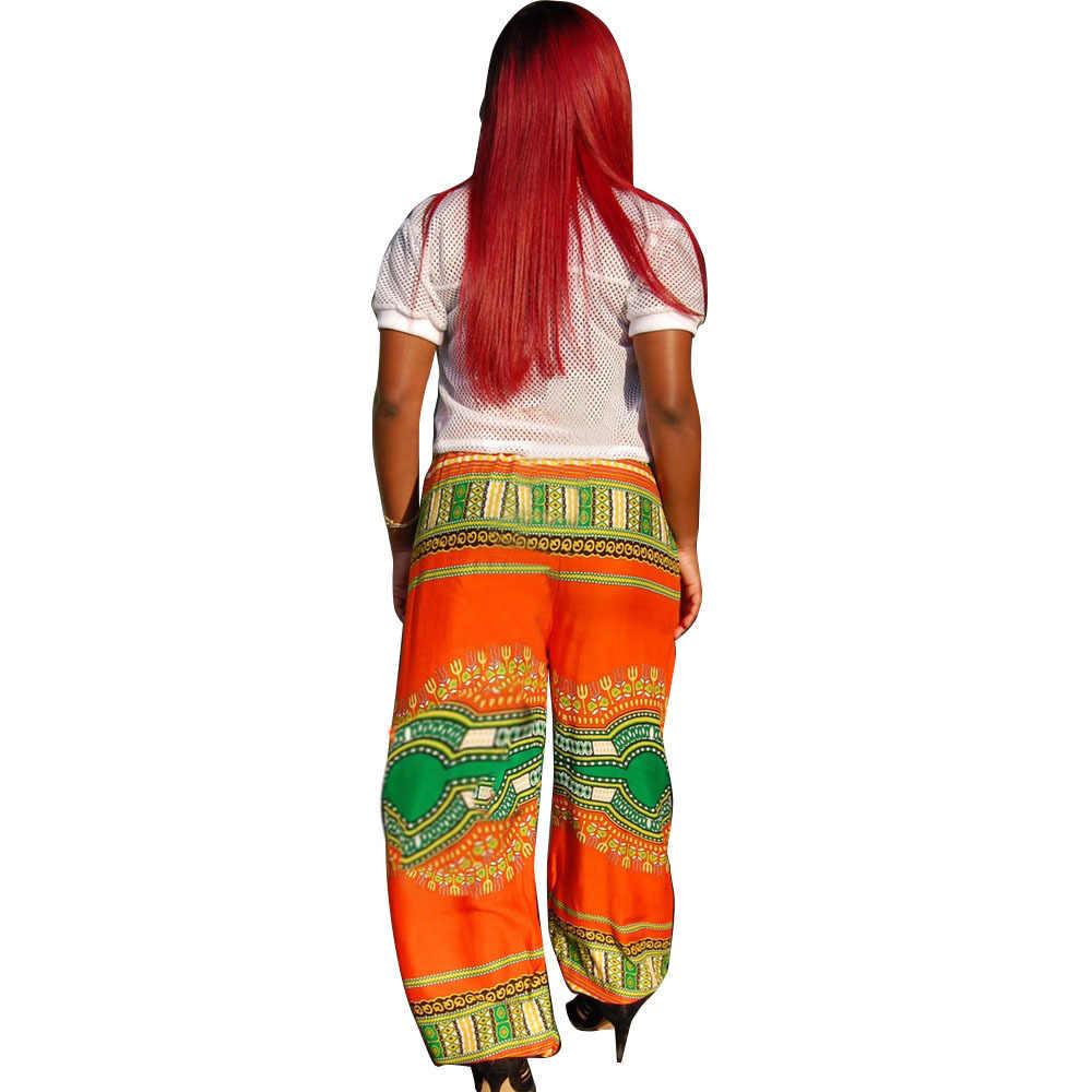 2017 Африканское платье одежда Африка Базен Riche платья сексуальный Национальный Тотем цифровой позиционный принт досуг широкие брюки