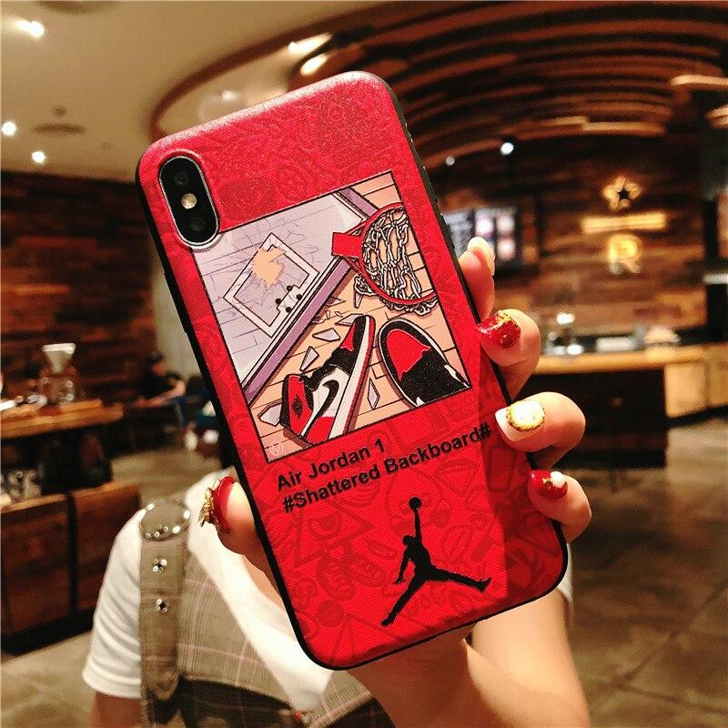 KEFO Ultra Thin Michael Jordan TPU Soft Case For Iphone X 10 5S SE 6 6S 7 8 Plus Fashion Sport NBA Star Flyman Jordan Back Cover (3)