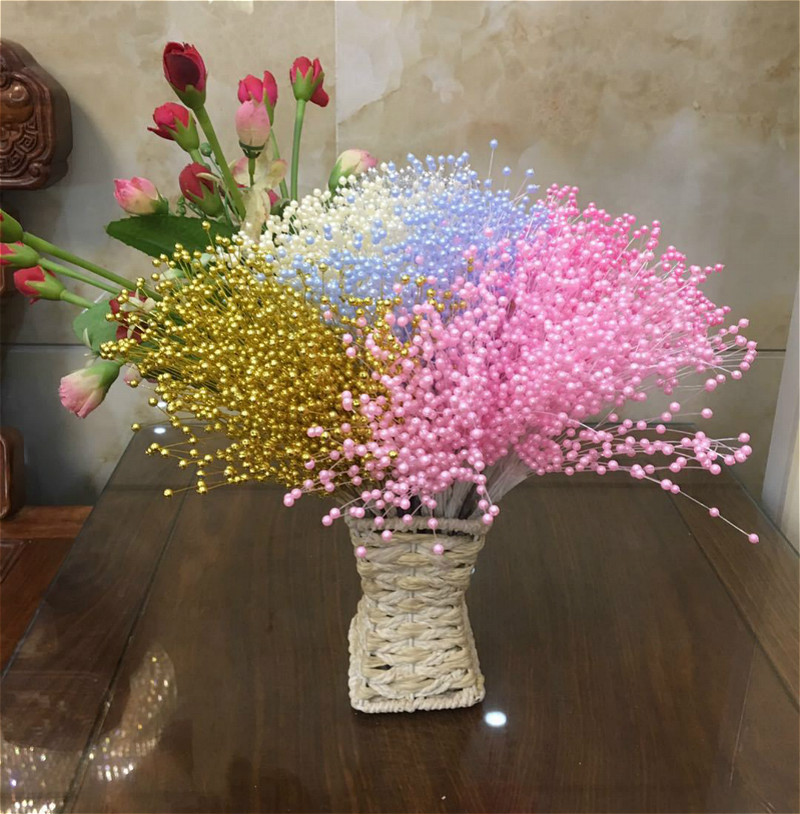 Us 0 01 28 Off Suef 1pc Pearl Star Twig Bride Holds Wedding Bouquet Room Decoration Flowers 1 In Artificial Dried From Home