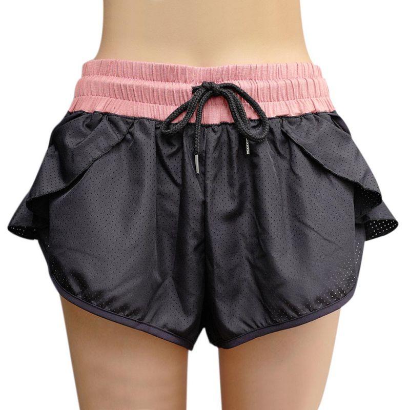 Chic Elastic Waist Shorts Ruffles Bow Drawstring Breathable Shorts For Women Sunny  Summer Fit Thin Casual Shorts Female