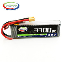 "MOSEWORTH 3S RC Lipo סוללה 11.1v 40C 3300mAh עבור מטוס RC מטוס סירה Quadcopter מזל""ט מטוס Li-polymer 3S AKKU"