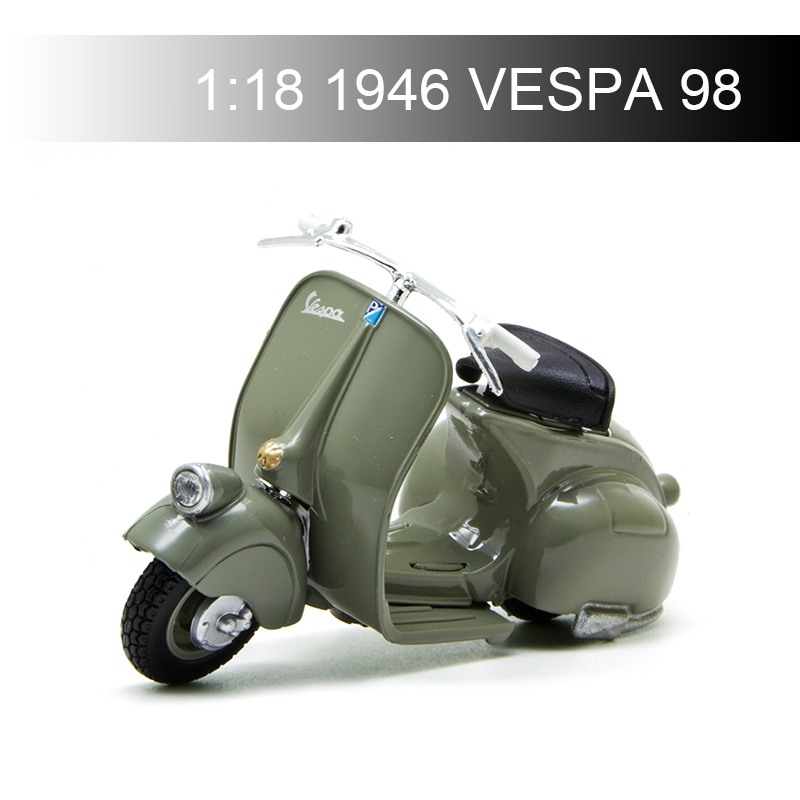 Maisto VESPA Piaggio 1946 98  1:18 Motorcycle Models Model Bike Base Diecast Moto Children Toy For Gift Collection