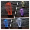 Frete Grátis 2016 nova Cobra 3D lâmpada criativo presente lâmpada luz Da Noite LEVOU interruptor do toque abajur de mesa colorido gradiente