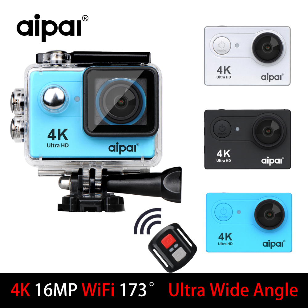 Aipal H9/H9R Action Camera 4K Ultra HD Sports DV remote WiFi 1080P 2.0LCD Camera 173D Go 40m Waterproof Pro Sport Camera