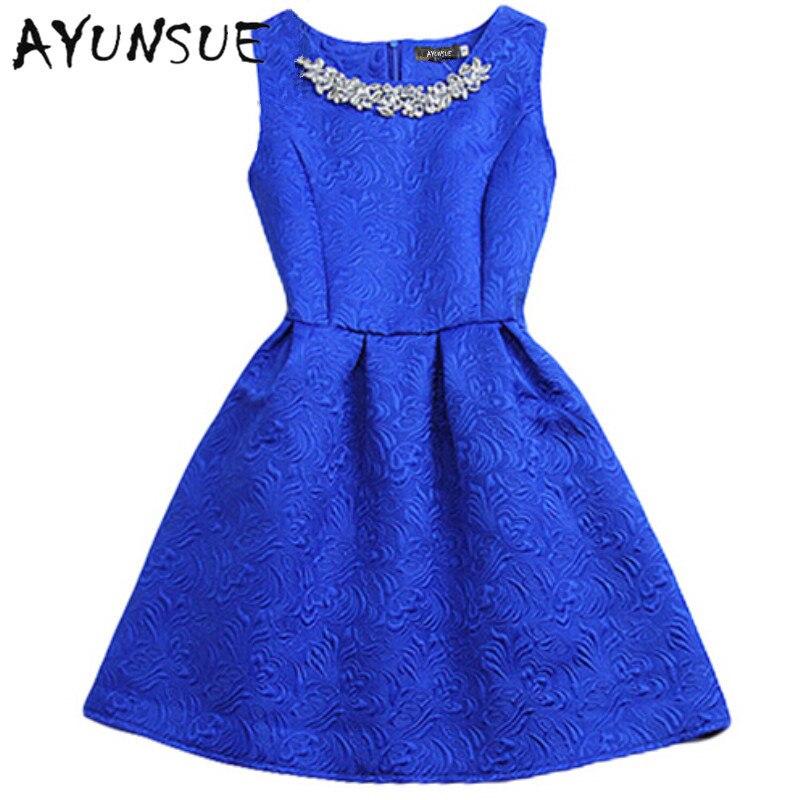 2020 Fashion Brand O-neck Sleeveless Vestidos Solid Ball Grown Women Dress Elegant Women Vestido Slim Bottoming Dresses 6 Colors