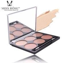 MISS ROSE Pro Natural Concealer Palette 6 Colors Makeup Foundation Facial Face Cream Cosmetic Contour