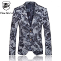 Fire Kirin Blazer Men 2017 Chinese Style Mens Floral Blazer Vintage Casual Suit Jacket Stage Wear Fashion Printed Design Q96