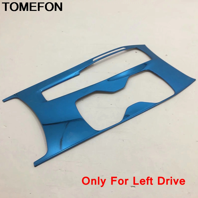 TOMEFON For Honda Accord 2018 2019 10th LHD Gear Shift Box Panel Control Frame Moulding Cover Trim Interior Accessories