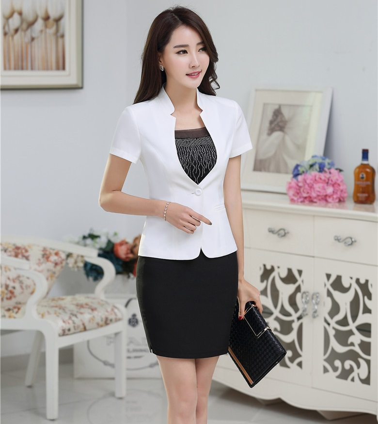 New Arrival Slim Fashion Female Suits Tops And Mini Skirt OL Styles Business Work Wear Ladies Blazers Outfits Uniforms