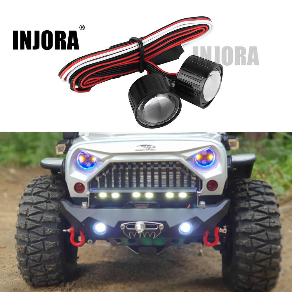 INJORA 22mm Multifunction RC รถไฟหน้าไฟ LED Controller สำหรับ 1/10 Axial SCX10 90046 RC ROCK Crawler