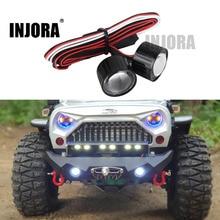 INJORA 22 ミリメートル多機能 Rc カーヘッドライト Led ライトコントローラボードとのための 1/10 軸 SCX10 90046 Rc ロッククローラー