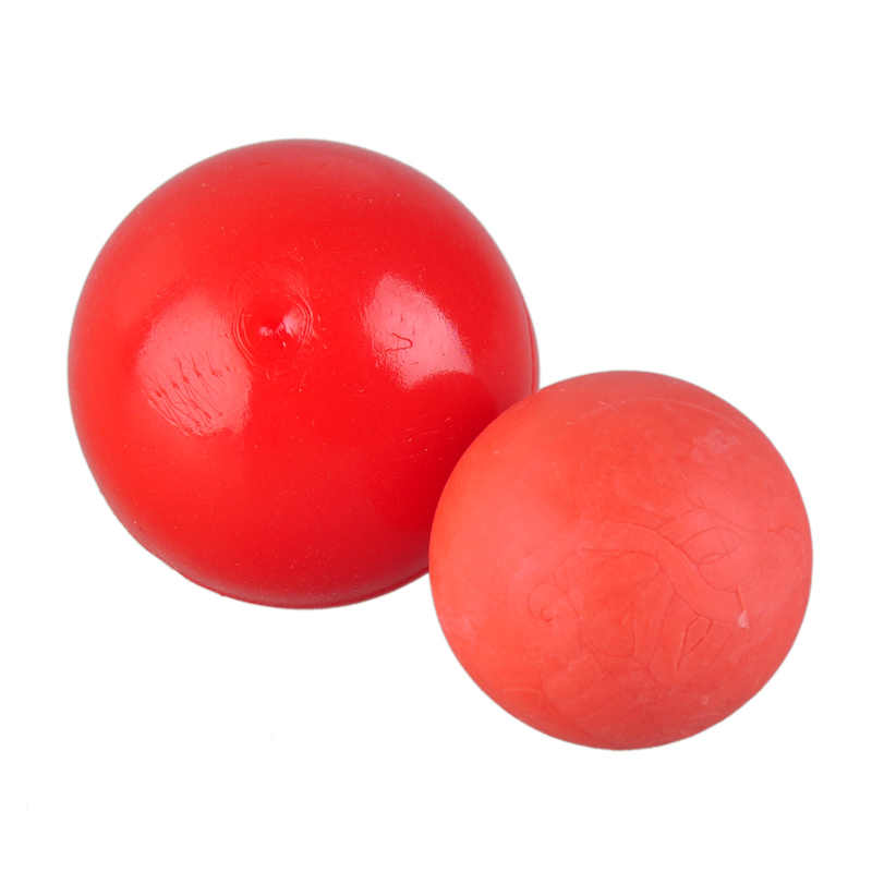 Rode Natuurlijke Rubber Elastische Hond Bal Speelgoed Bite Resistant Training Ballen Huisdieren Honden Speelgoed voor Puppy Kleine Grote Hond