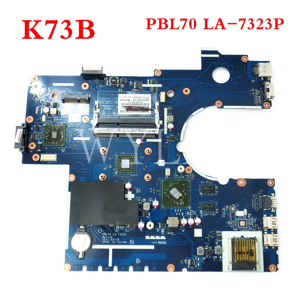 free shipping K73B mainboard For ASUS PBL70 LA-7323P X73B K73B X73BY K73BY X73BR K73BR laptop motherboard Tested Working free shipping K73B mainboard For ASUS PBL70 LA-7323P X73B K73B X73BY K73BY X73BR K73BR laptop motherboard Tested Working